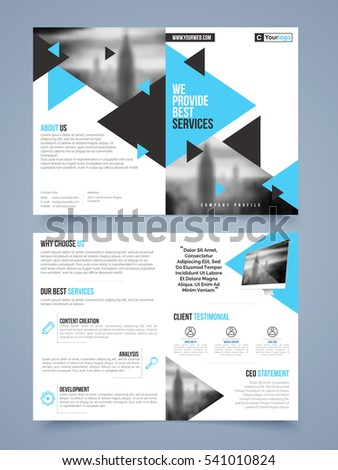 two page brochure template flyer layout stock vector royalty free