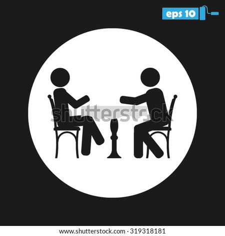 two people table chair