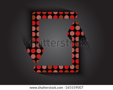 two red dots arrows background stock vector 165559007 shutterstock