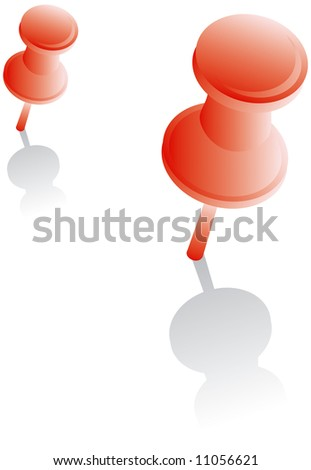two red pushpins with shadow