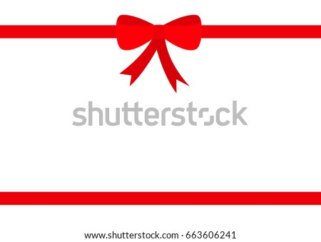 two red ribbons christmas bow icon stock vector 663606241 shutterstock rh shutterstock com christmas ribbon vector free red christmas ribbon vector