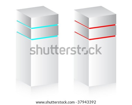 two servers - stock vector