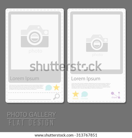 Two set of Photo gallery flat design concept - stock vector