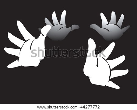 two sets of gloved hands clapping.
