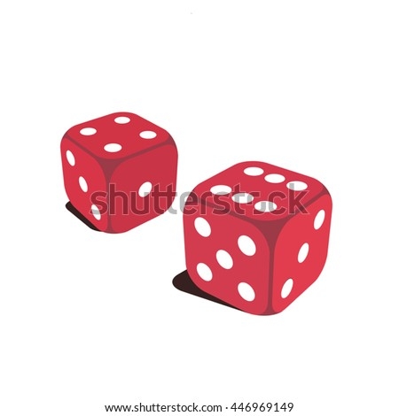 Two simple red dice