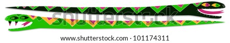 two snakes - stock vector