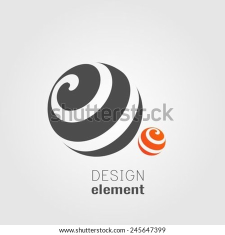 Two Sphere Circle abstract lines vector logo design template - stock vector