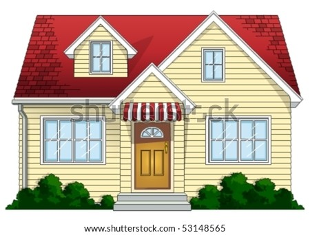 Two-story House - stock vector