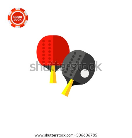 Two Table Tennis Rackets Icon