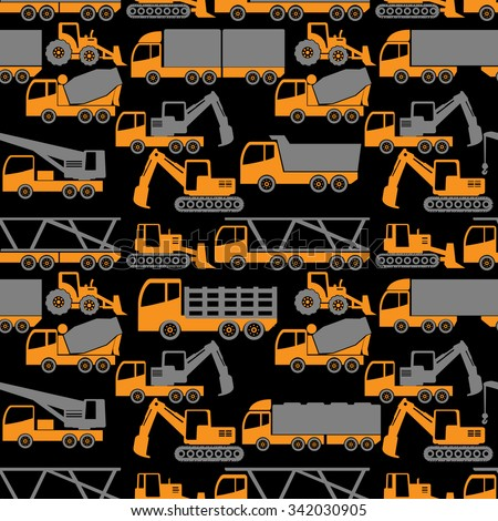 two tone shape heavy transportation and construction vehicle in vector style.