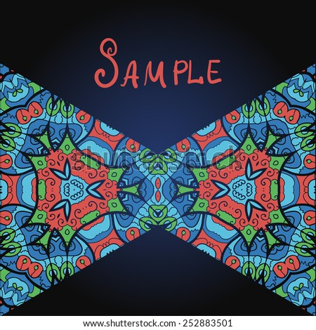 Two triangles in red and blue color and a lot of copyspace. Template for menu, greeting card, invitation or cover - stock vector