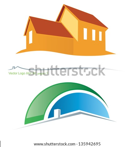 Two variants vector house symbols