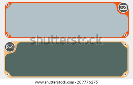 Two vector frames for your text and envelope - stock vector