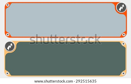 Two vector frames for your text and flash - stock vector