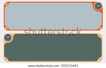 Two vector frames for your text and watches - stock vector