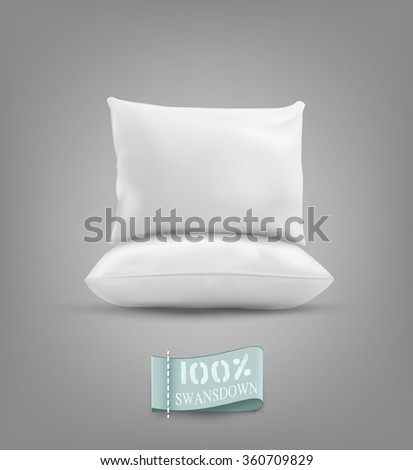 Two vector pillow isolated on a gray background - stock vector