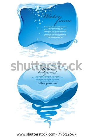 Two water backgrounds. (vector illustration) - stock vector