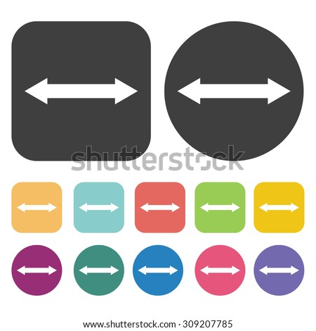 Two-way arrow icons set. Vector Illustration eps10