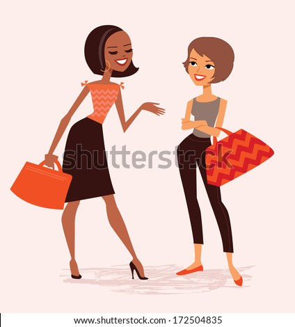Women Talking Stock Illustrations – 6,473 Women Talking ...