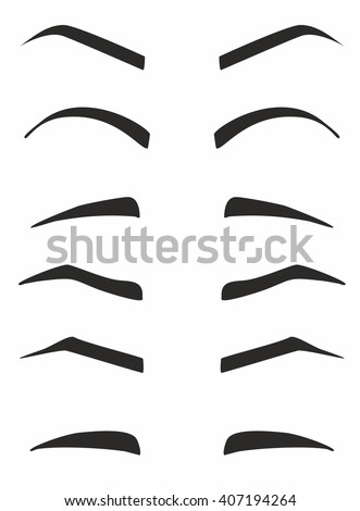 how to draw black eyebrows