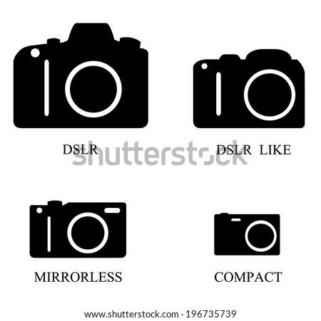 Types of Digital Cameras Vector - stock vector