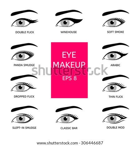 Types Eye Makeup Stock Vector 306446687 - Shutterstock