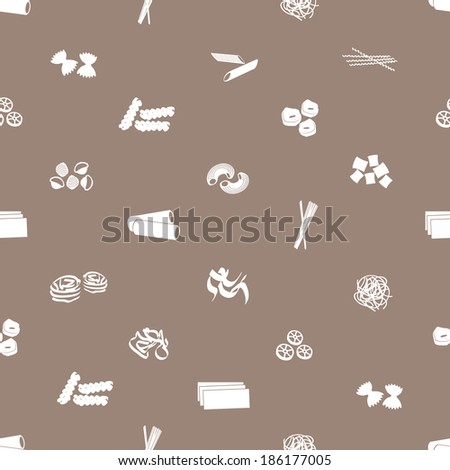 types of pasta food pattern eps10 - stock vector