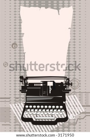 typewriter.Vector illustration. - stock vector