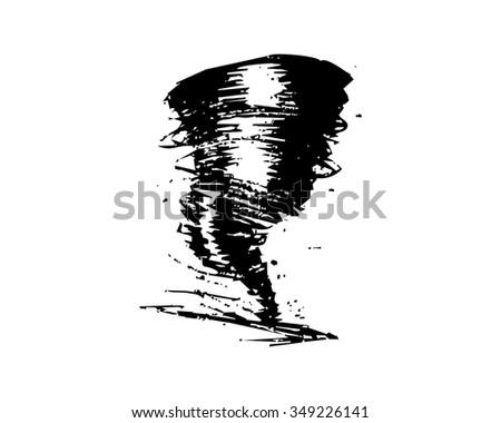 typhoon hurricane logo icon vector - stock vector