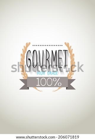 "Typo vector with word ""Gourmet"" - stock vector"
