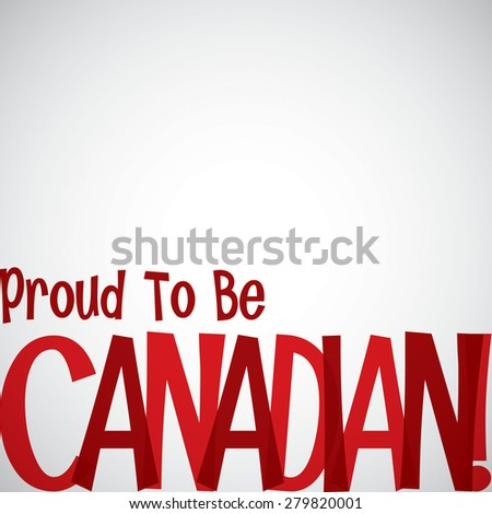 Typographic Canada Day card in vector format. - stock vector