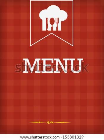 Typographic Design-menu - stock vector