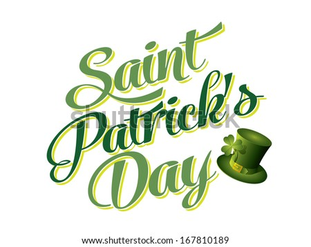 Typographic Saint Patricks Day Card - stock vector