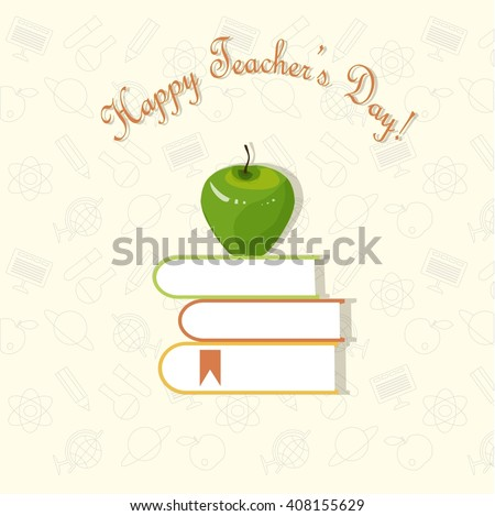 Typography banner Happy Teacher's Day, vector