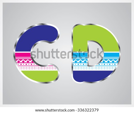 Typography colorful pattern font - stock vector