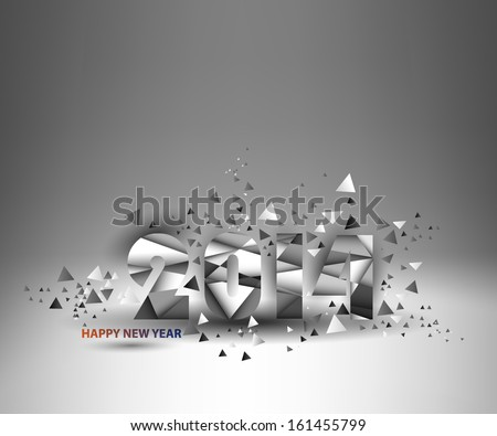 Typography for new year 2014