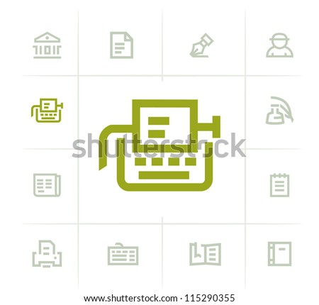 Typography Icons - stock vector
