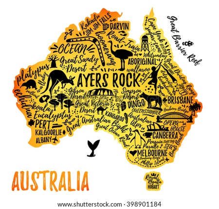australia map australia travel guide
