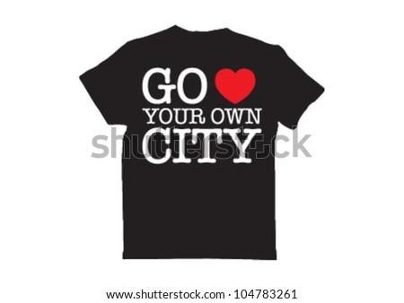 typography tshirt - stock vector