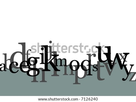 Typography Vector - stock vector