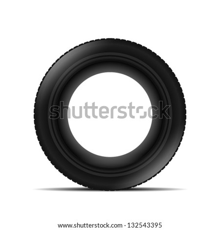 Tyre over white background - stock vector