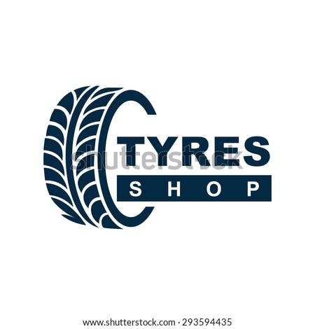 Tyre Shop Logo Design - Tyre Business Branding - stock vector