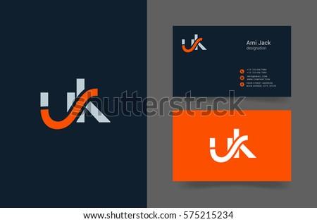 U k letter logo design vector stock vector royalty free 575215234 u k letter logo design vector element with business card reheart Choice Image