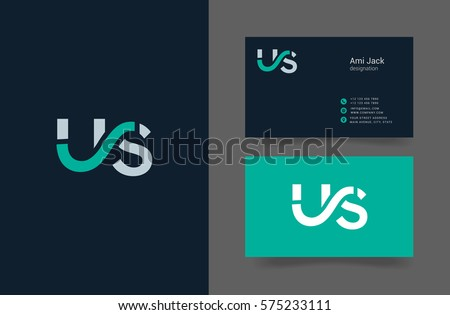 U s letter logo design vector em vetor stock 575233111 shutterstock u s letter logo design vector element with business card template reheart Image collections