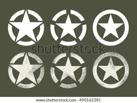 Us Military Stars Stock Vector 490162381 Shutterstock