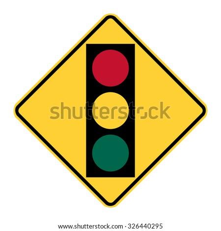 U.S. Traffic Signal - stock vector
