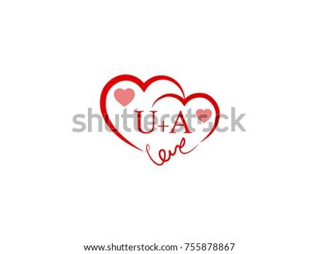Ua initial wedding invitation love logo stock vector 755878867 ua initial wedding invitation love logo template vector stopboris Image collections