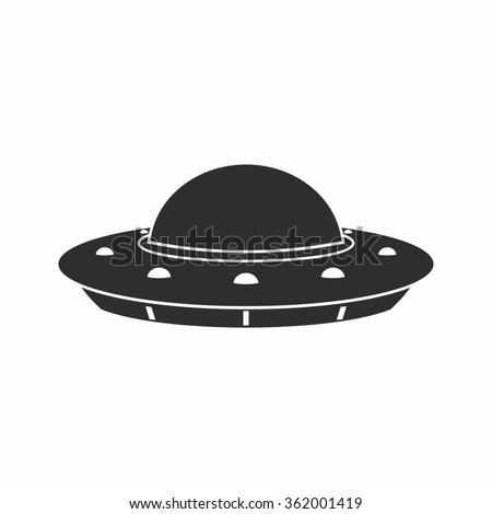 UFO Flying Saucer Icon isolated on white background. - stock vector
