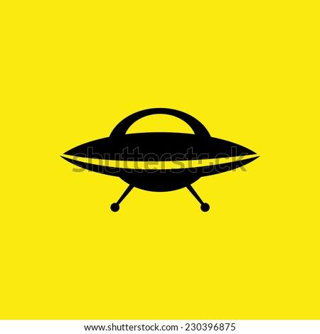 UFO icon. VECTOR illustration - stock vector