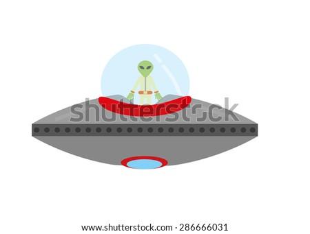 ufo isolated - stock vector